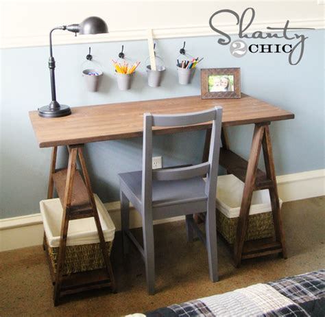 diy wood desk how to build a sawhorse desk for both rustic and modern offices