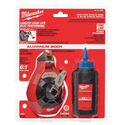 chalk paint milwaukee milwaukee 100 ft precision line chalk reel kit with blue