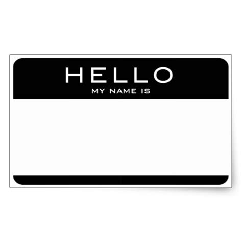 Customizable Hello My Name Is Name Tag Stickers Zazzle Com Name Tag Sticker Template