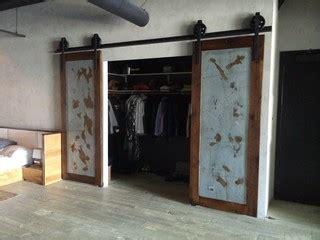 Sliding Barn Door Bipart Reclaimed Wood Galv Barn Doors Los Angeles