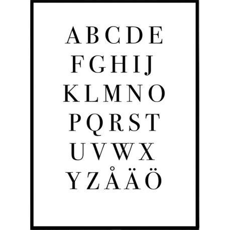 svenskt alfabet planscher posters affischer inredning