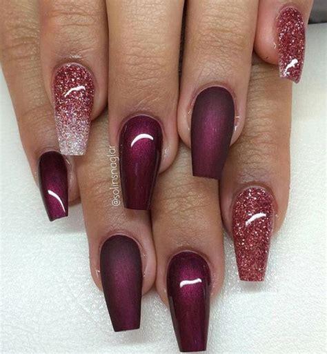 burgundy nail color best 25 burgundy nail designs ideas on