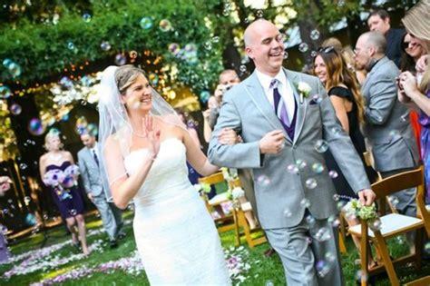 Wedding Aisle Bubbles by Wedding Bubbles Walking Back The Aisle