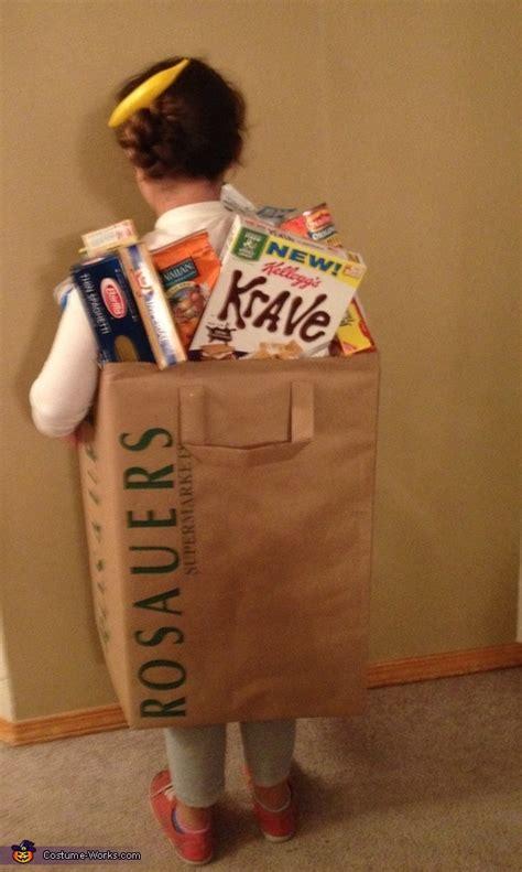 bag  groceries halloween costume photo