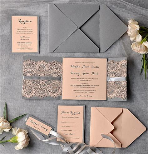 Handmade Lace Wedding Invitations - 14 out of the box handmade wedding invitations