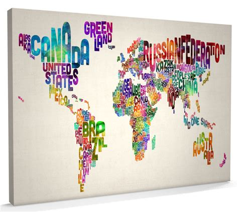 world cities map canvas canvas nation artpause