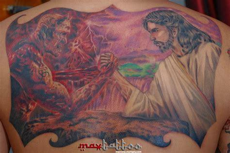 jesus tattoo wallpapers jesus vs satan wallpaper wallpapersafari