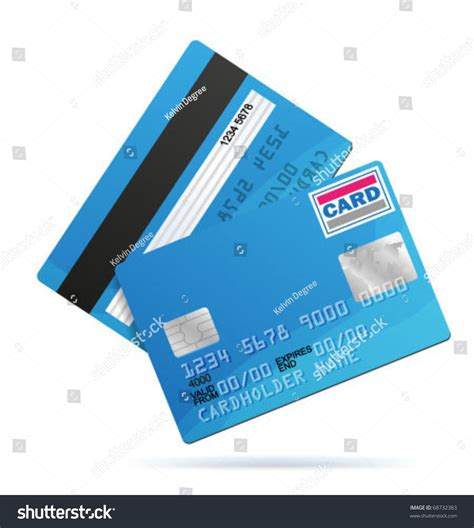 Card Template With Front And Back by Vector Credit Card Template Front Back Stock Vector