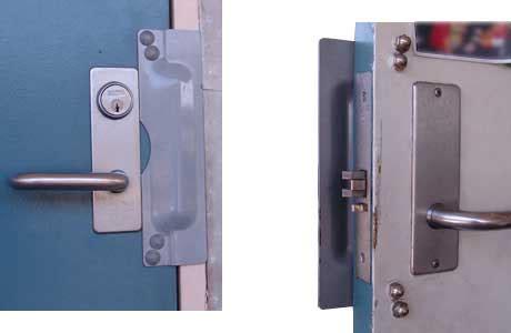 Door Guard by Door Latch Door Latch Guard