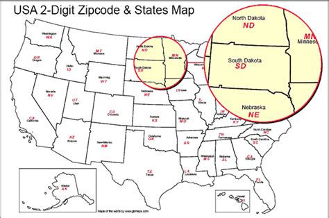 usa map with zip codes usa state boundaries map