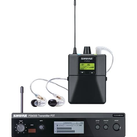 Ear Monitor shure psm 300 stereo personal monitor system p3tra215cl