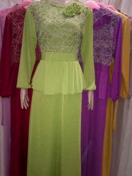 Gamis Import 4 jual baju gamis jersey kombinasi brukat import 3040 harga murah jakarta oleh toko rini collection