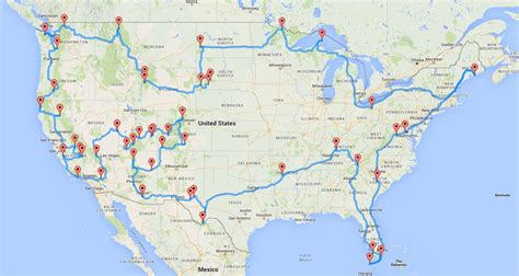 road trip maps of the usa rv routes across america donttouchthespikes