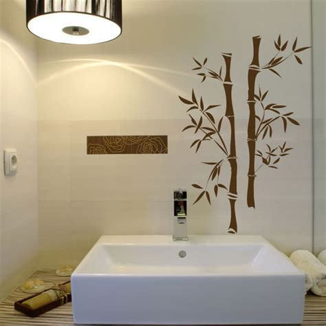 bathroom wall stencil ideas art wall decor bamboo flooring bathroom wall green