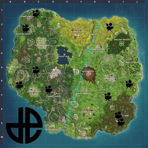 where fortnite cameras all known locations for the fortnite battle