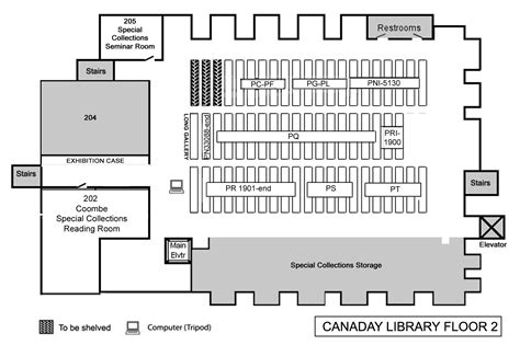 University Library Floor Plan by Book Locations Floor Maps Bryn Mawr College Library
