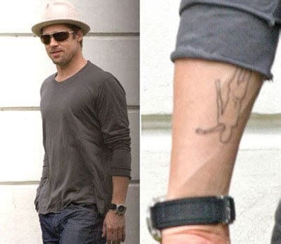 brad pitts tattoos brad pitt tattoos all tattoos
