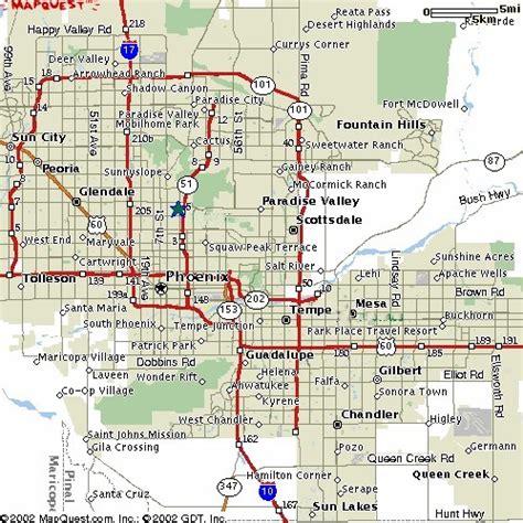 printable phoenix area map free printable maps