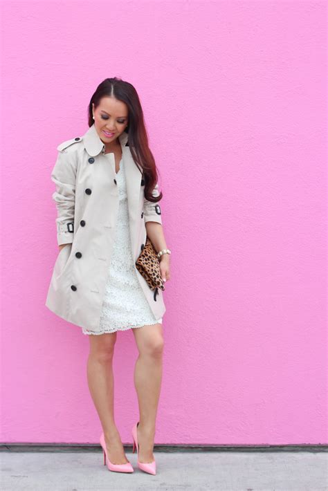 Lust It Taylors Lace Trench scalloped lace dress burberry trench and gum pink