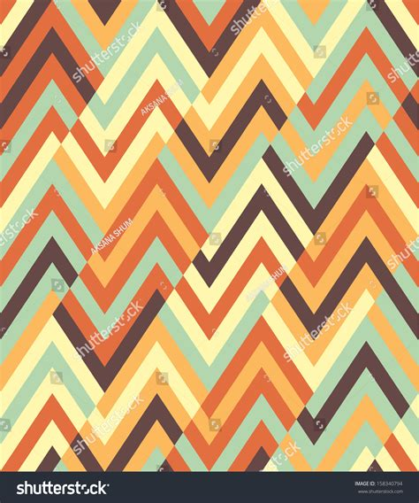 stock zigzag pattern seamless vector ethnic zigzag pattern stock vector