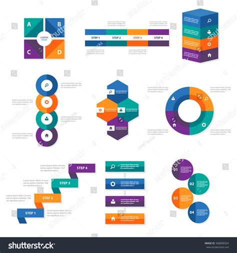 shutterstock design elements and layout vector pack colorful infographic elements pack flat design stock