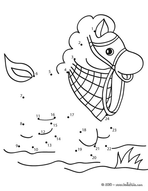 printable horse games horse dot to dot game coloring pages hellokids com