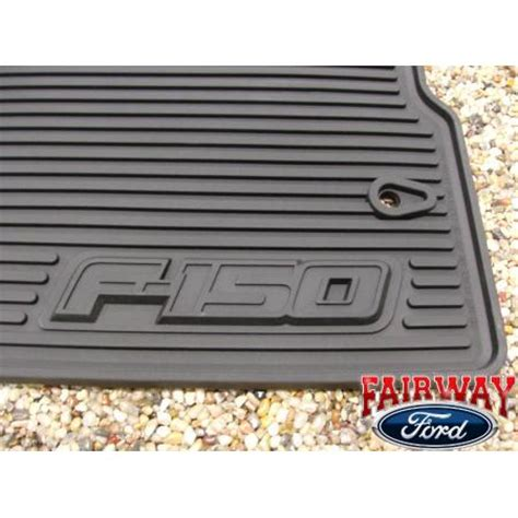 Ford F 150 Rubber Floor Mats 09 10 ford f 150 f150 oem black rubber all weather floor mat set 2 pc reg cab ebay