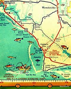mexico map print florida map port st joe map