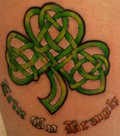celtic clover tattoo designs design shamrock