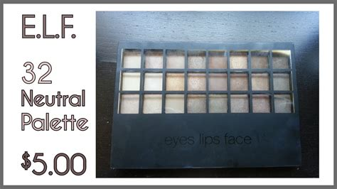 32 Endless Pro Mini Eyeshadow Palette swatches of the e l f studio endless pro mini eyeshadow palette 32 palette