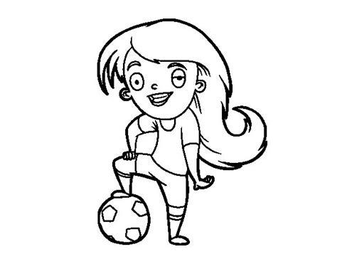 imagenes para pintar futbol dibujo de f 250 tbol femenino para colorear dibujos net
