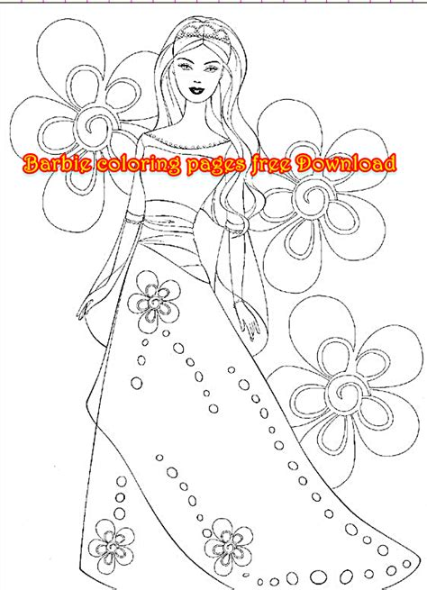 barbie coloring pages download barbie coloring pages free download coloring page