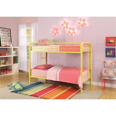 thomas twin bed acme furniture thomas twin over twin metal kids bunk bed