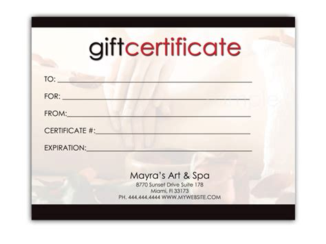 editable gift card template best photos of editable gift certificate templates