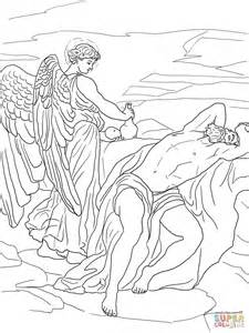 printable coloring pages elijah god sends an to elijah coloring page free