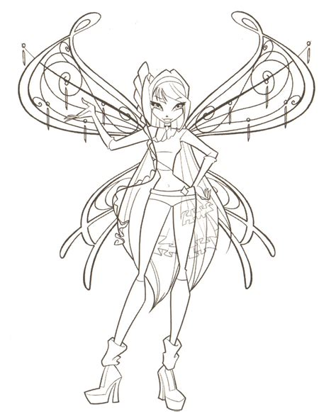 Winx Club Coloring Pages Winxclub Photo 18537844 Fanpop Winx Club Coloring Page