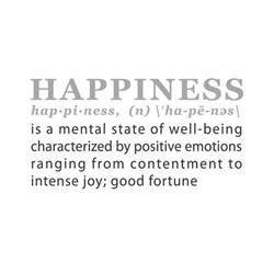 Wall quotes wall decals happiness a definition