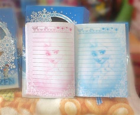 Bukuunik Frozen Gembok Diary Book jual buku diary frozen elsa mapple shop