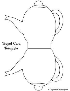 Teapot Card Template by S Day Teapot Card Pattern Mothers Day Crafts