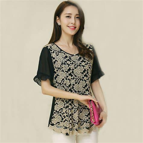 Atasan Wanita Blus Katun Kemeja Lengan Panjang G 039 1593 blusas tubuh wanita lace blus atasan blusa renda ukuran besar crochet blus kemeja wanita hitam