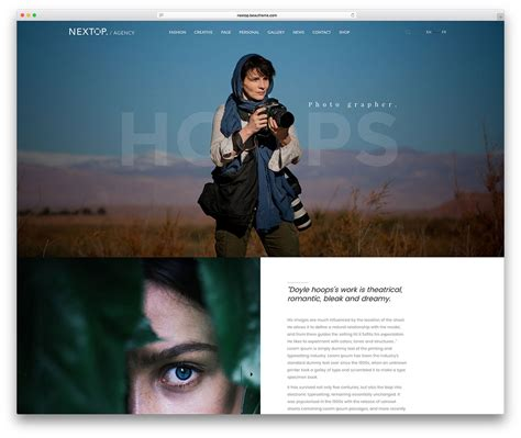 themes wordpress photography 50 best photography wordpress themes 2018 colorlib