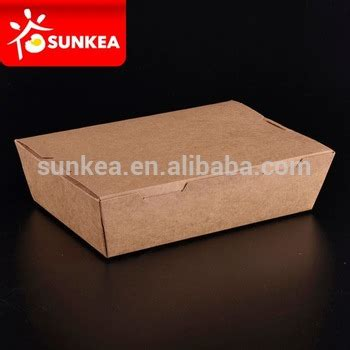 Food Grade Brown Kraft Paper Lunch Box Ukuran L paper meal box recycled brown kraft paper food box buy disposable food containers wholesale
