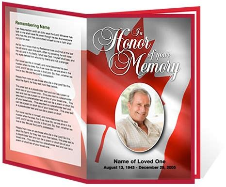 sle funeral programs funeral programs or obituary programs canada patriotic memorial service program templates