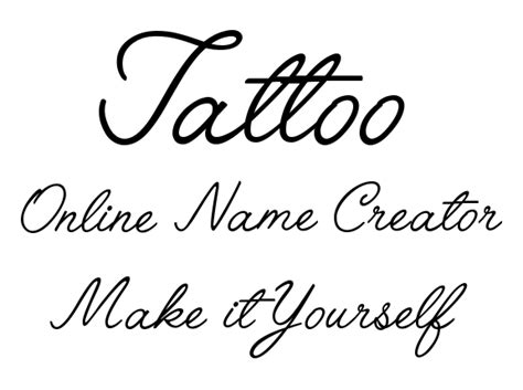 Tattoo Yourself Generator | make it yourself online tattoo name creator