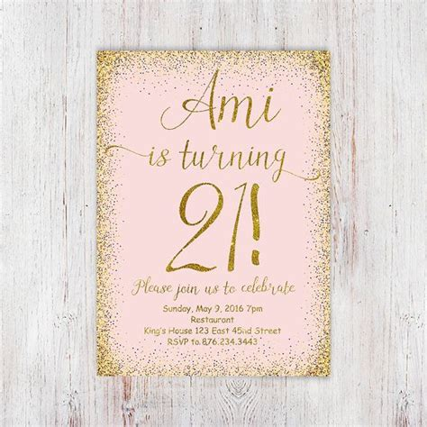 21st invite templates 25 best ideas about 21st birthday invitations on