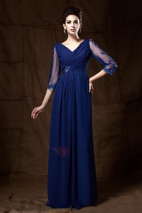 fotomontaje con vestidos de noche taline s vestido de noche con 3 4 mangas y cuello en v