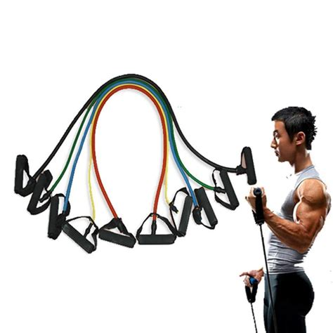 5 pieces resistance bands home fitness workout equipment