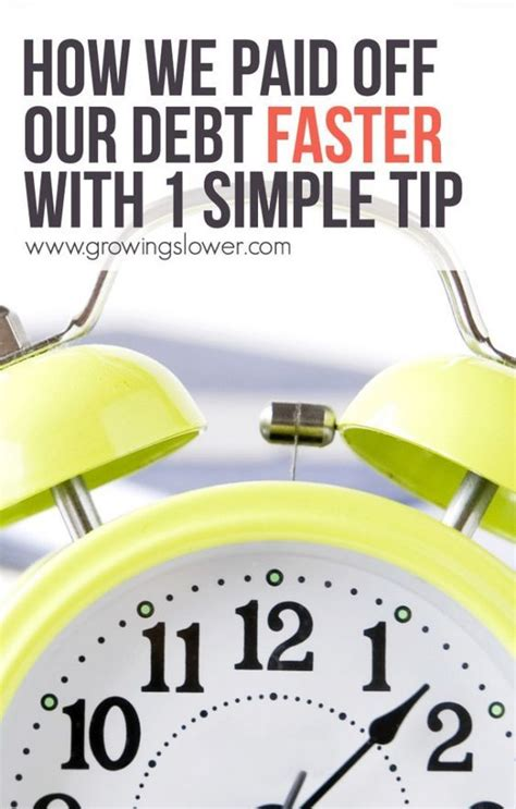 paid   debt faster    simple tip