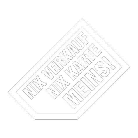 Aufkleber Auto Innen by Aufkleber Nix Verkauf Innen Klebend
