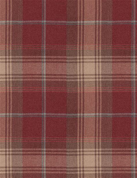 Curtain Details For Woven Check Stirling Red Next Made